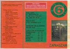 Ulotka : [Inc.:] Miejska Biblioteka Publiczna Filia nr 6 w Białej Podlaskiej zaprasza, 2008