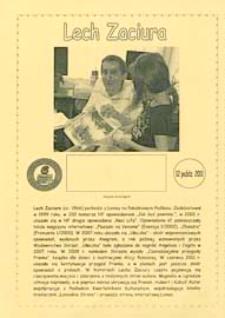 Druk pamiątkowy : [Spotkanie z Lechem Zaciurą w Filii nr 6 MBP w Białej Podlaskiej], 12.11.2011 r.