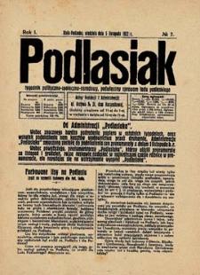 Podlasiak : tygodnik polityczno-społeczno-narodowy, poświęcony sprawom ludu podlaskiego R. 1(1922) nr 7