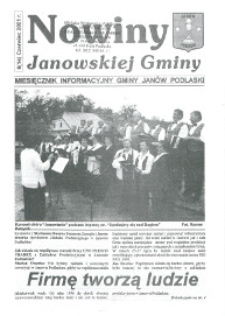 Nowiny Janowskiej Gminy : miesięcznik informacyjny Gminy Janów Podlaski R.2 (2001) nr 6 (14)