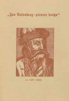 Jan Gutenberg - pionier druku : katalog wystawy