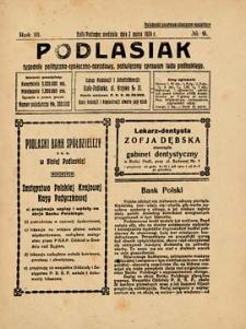 Podlasiak : tygodnik polityczno-społeczno-narodowy, poświęcony sprawom ludu podlaskiego R. 3 (1924) nr 9
