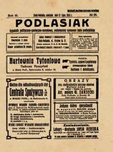 Podlasiak : tygodnik polityczno-społeczno-narodowy, poświęcony sprawom ludu podlaskiego R. 3 (1924) nr 28