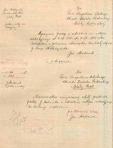 Podanie do Inspektora Obwodu Szkolnego Bialsko-Podlaskiego o udzielenie urlopu wypoczynkowego w dn. 4 VII - 4 VIII 1935 r.