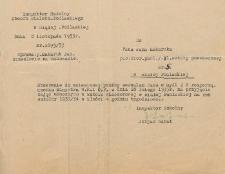 Zezwolenie na przyjęcie zajęć ubocznych w Szkole Wieczorowej w Białej Podlaskiej wydane Janu Makarukowi przez Inspektora Szkolnego Obwodu Bialsko-Podlaskiego