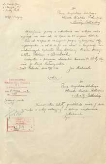 Podanie do Inspektora Obwodu Szkolnego Bialsko-Podlaskiego o udzielenie urlopu wakacyjnego w dn.11 VII - 21 VIII 1936 r.