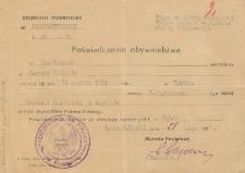Poświadczenie obywatelstwa polskiego Jana Makaruka
