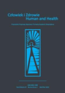 Człowiek i Zdrowie = Human and Health T. 6, nr 1 (2012)