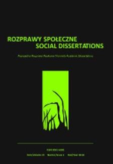 Rozprawy Społeczne = Social Dissertations T. 4, nr 1 (2010)