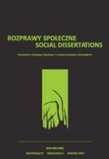Rozprawy Społeczne = Social Dissertations T. 4, nr 2 (2010)