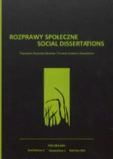 Rozprawy Społeczne = Social Dissertations T. 5, nr 1 (2011)
