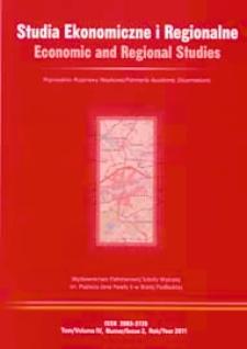 Studia Ekonomiczne i Regionalne = Economic and Regional Studies T. 4, nr 2 (2011)