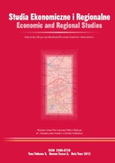 Studia Ekonomiczne i Regionalne = Economic and Regional Studies T. 5, nr 2 (2012)