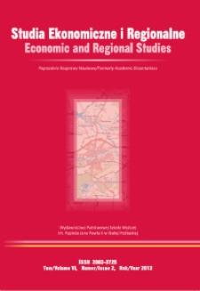 Studia Ekonomiczne i Regionalne = Economic and Regional Studies T. 6, nr 2 (2013)