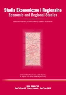 Studia Ekonomiczne i Regionalne = Economic and Regional Studies T. 6, nr 4 (2013)