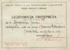 Legitymacja urzędnicza ważna do dnia 31 grudnia 1930 r. dla p. Jana Makaruka nauczyciela publicznej szkoły powszechnej w Janowie Podlaskim
