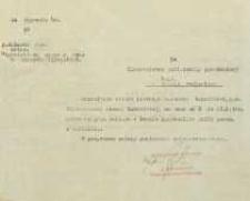 Pismo o udzieleniu urlopu płatnego celem wzięcia udziału w kursie kierowników szkół powszechnych w Lublinie