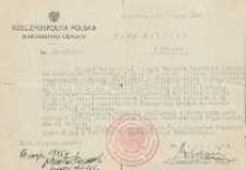 Nominacja Jana Makaruka na prowizyrocznego Naczelnika Wydziału w Kuratorium Okręgu Szkolnego Toruńskiego