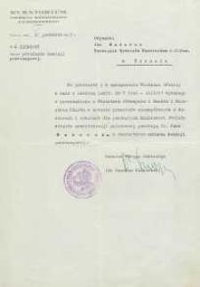 Pismo w sprawie powołania Jana Makaruka na członka komisji przetargowej