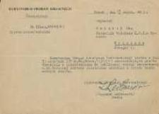 Pismo odmowne w sprawie prośby Jana Makaruka o przeniesienie do pracy w szkolnictwie powszechnym w Warszawie