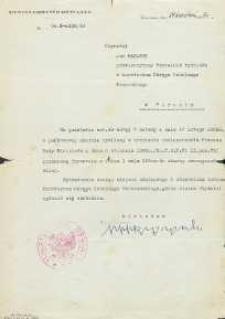 Pismo Ministerstwa Oświaty o przeniesieniu Jana Makaruka z dn. 1 maja 1950 r. do służby nauczycielskiej w Warszawie