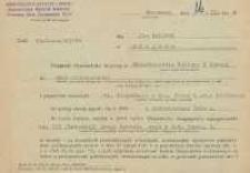 Pismo w sprawie zatrudnienia Jana Makaruka na stanowisku st. inspektora w Departamencie Pracy Kulturalno-Oświatowej i Bibliotek Ministerstwa Kultury i Sztuki