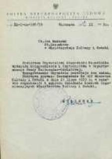 Nominacja Jana Makaruka na Naczelnika Wydziału Księgozbiorów i Czytelnictwa w Departamencie Pracy Kulturalno-Oświatowej