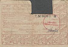 Karta premiowa na rok gospodarczy 1944/1945
