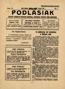 Podlasiak : tygodnik polityczno-społeczno-narodowy, poświęcony sprawom ludu podlaskiego R. 4 (1925) nr 1