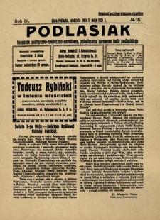 Podlasiak : tygodnik polityczno-społeczno-narodowy, poświęcony sprawom ludu podlaskiego R. 4 (1925) nr 18