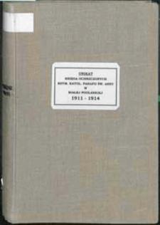 Księga chrztów rzymskokatolickiej parafii św. Anny w Białej Podlaskiej za lata 1911-1914