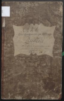 Księga Akt Urzędnika Stanu Cywilnego Gminy Bialskiej Obrządku Łacińskiego do zapisywania zejść (wrzesień 1810- 1811)