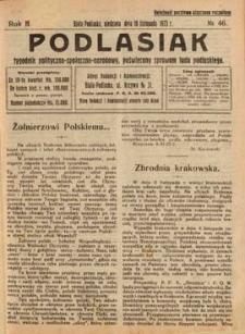 Podlasiak : tygodnik polityczno-społeczno-narodowy, poświęcony sprawom ludu podlaskiego R. 2 (1923) nr 46
