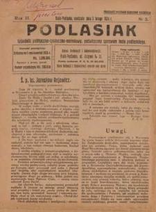 Podlasiak : tygodnik polityczno-społeczno-narodowy, poświęcony sprawom ludu podlaskiego R. 3 (1924) nr 5