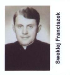 Ks.Franciszek Sweklej wikariusz parafii św. Elżbiety Węgierskiej w Konstantynowie w 1952 roku
